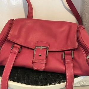 Handbags - Tignanello pink leather shoulder bag